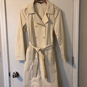 Theory cream trench coat